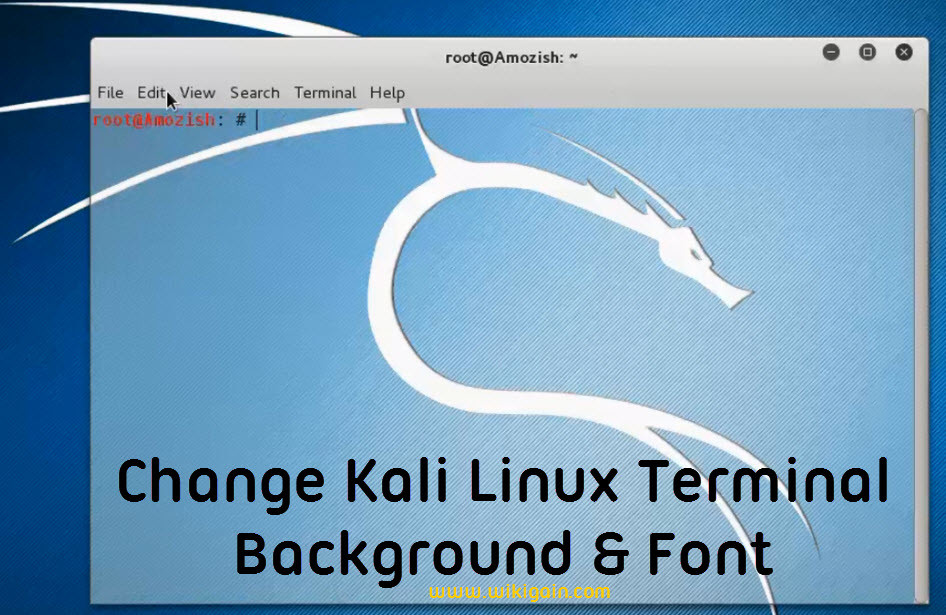 how to change kali linux terminal background and font