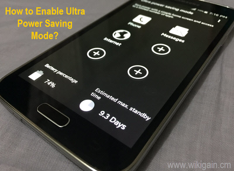 Enable Ultra Power Saving Mode on Android Devices - wikigain