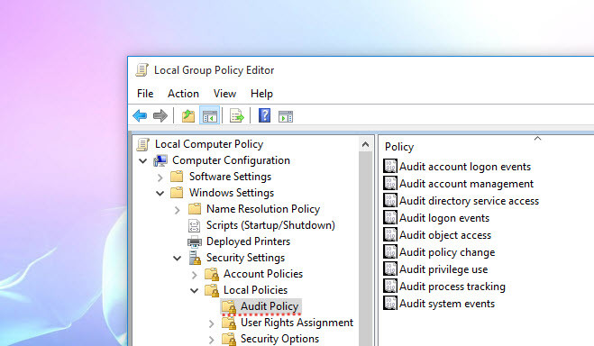 Configuring Audit Policy in Windows Server 2016 - wikigain