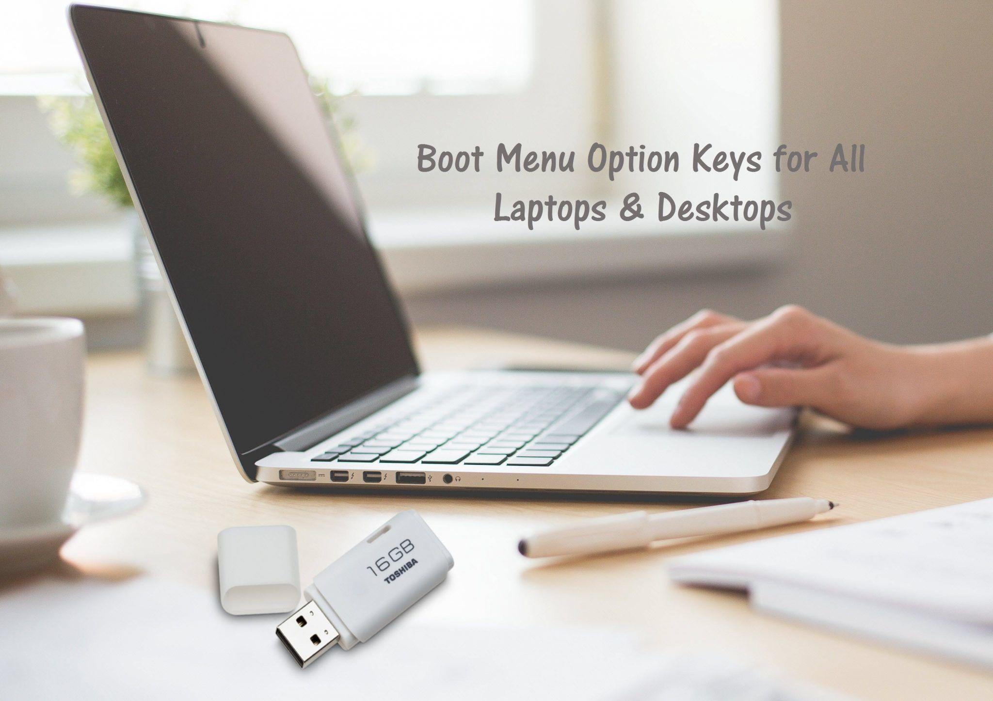 Boot Menu Option Keys for all Laptops & Desktops - System BIOS Keys