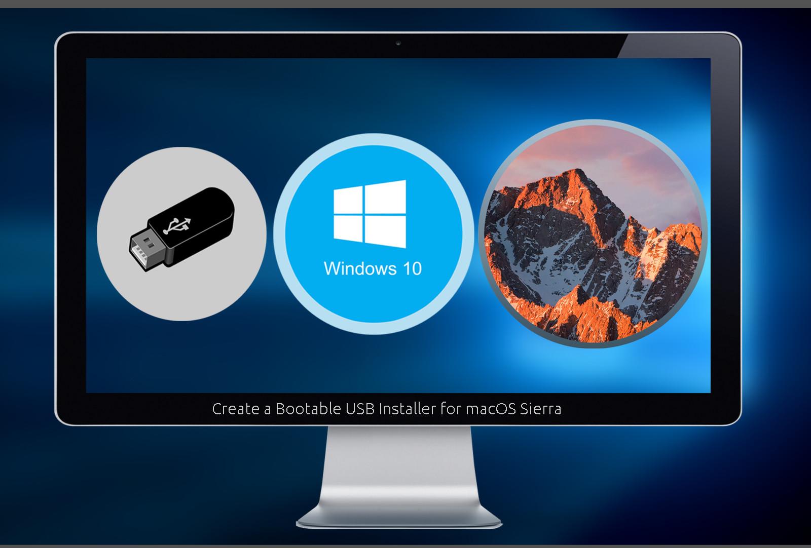 create bootable usb windows 10 on mac high sierra
