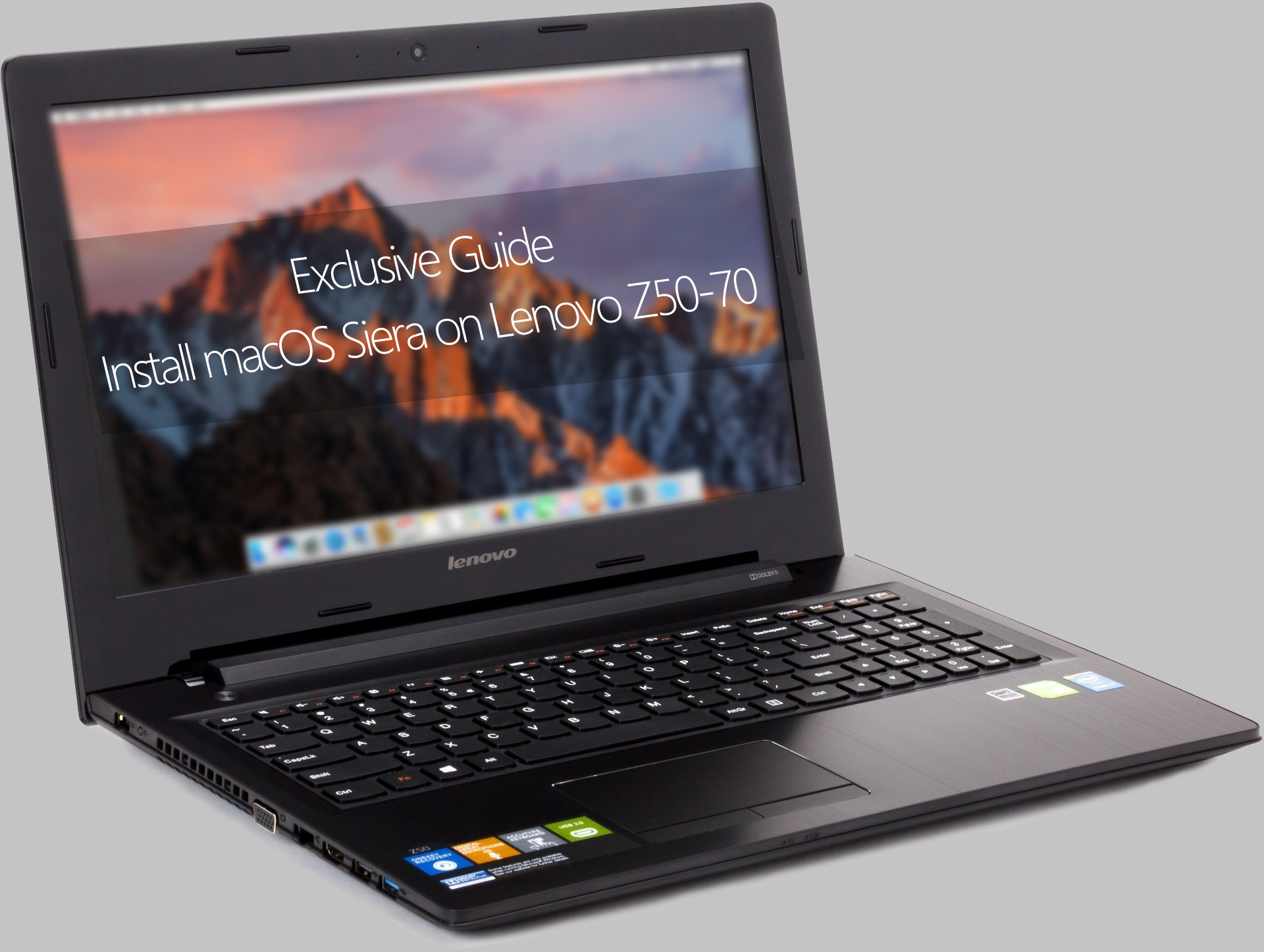 Exclusive Guide] Install macOS Sierra on Lenovo Z50-70/ Z40/ G50
