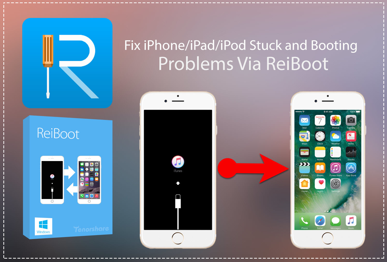 iphone ipad repair fix iphone ipod stuck and booting problems reiboot 11965