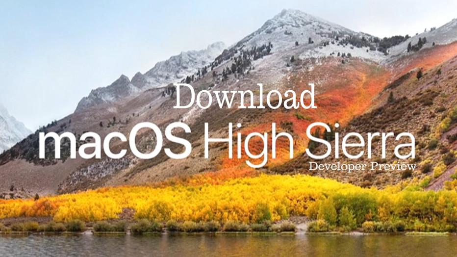 mac os high sierra download free