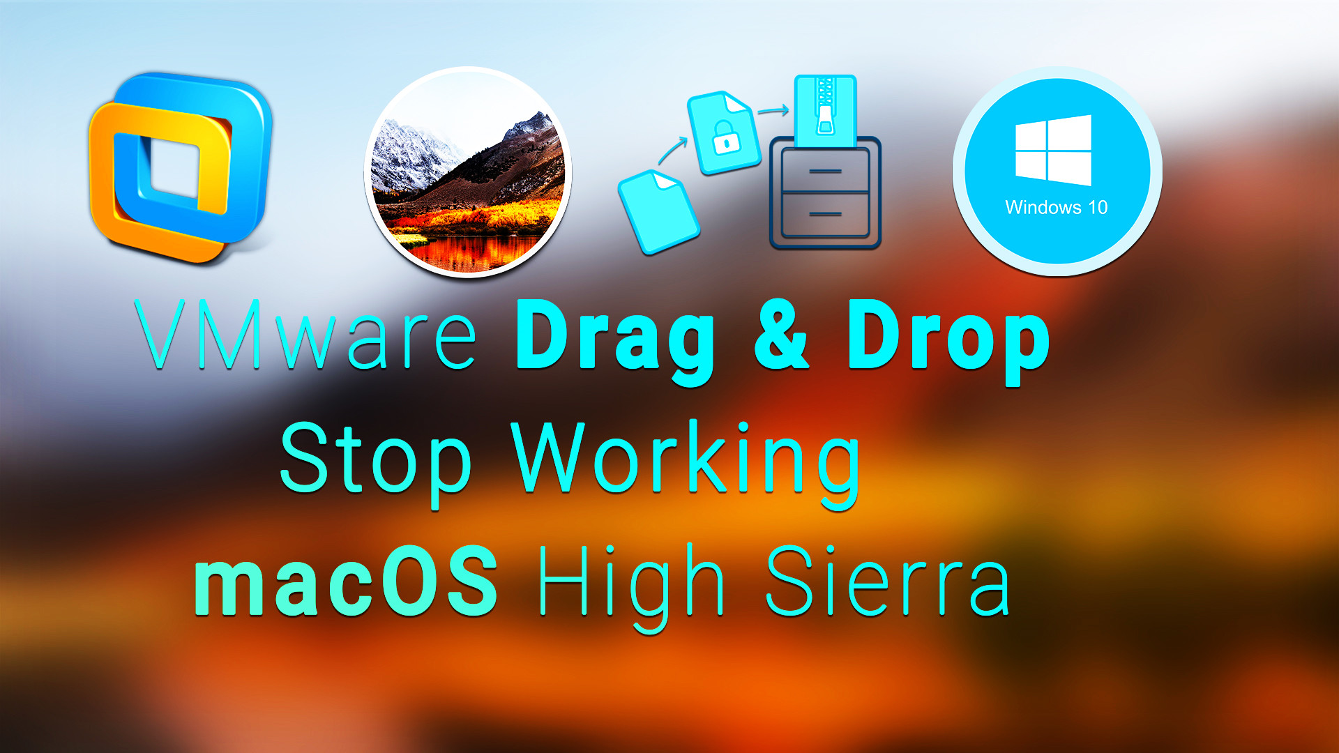 How to Enable Drag & Drop on VMware on macOS High Sierra