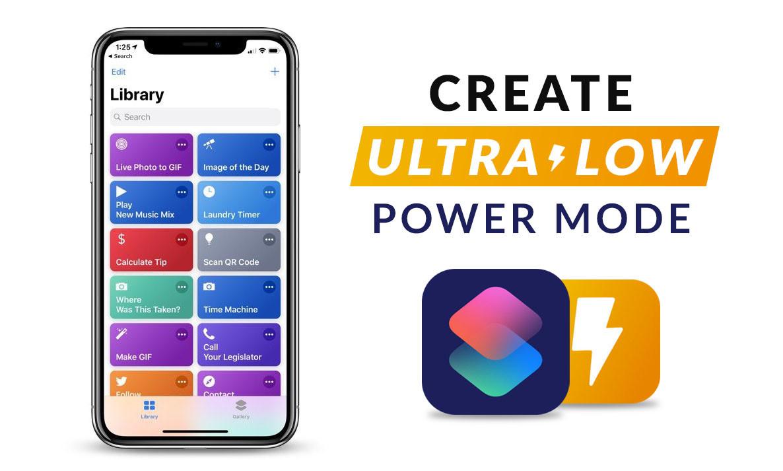Create Ultra-Low Power Mode Using Siri Shortcut App (iOS 12) - wikigain