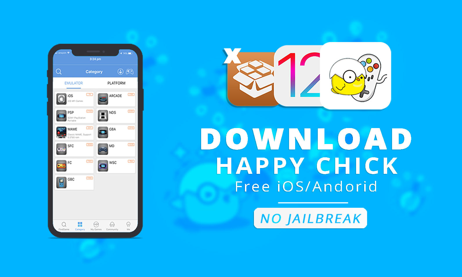 Get Happy Chick Emulator Free With Games on iOS 12 1 - wikigain