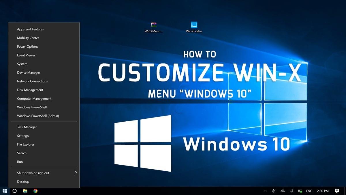 How to Customize Win-X Menu on Windows 10
